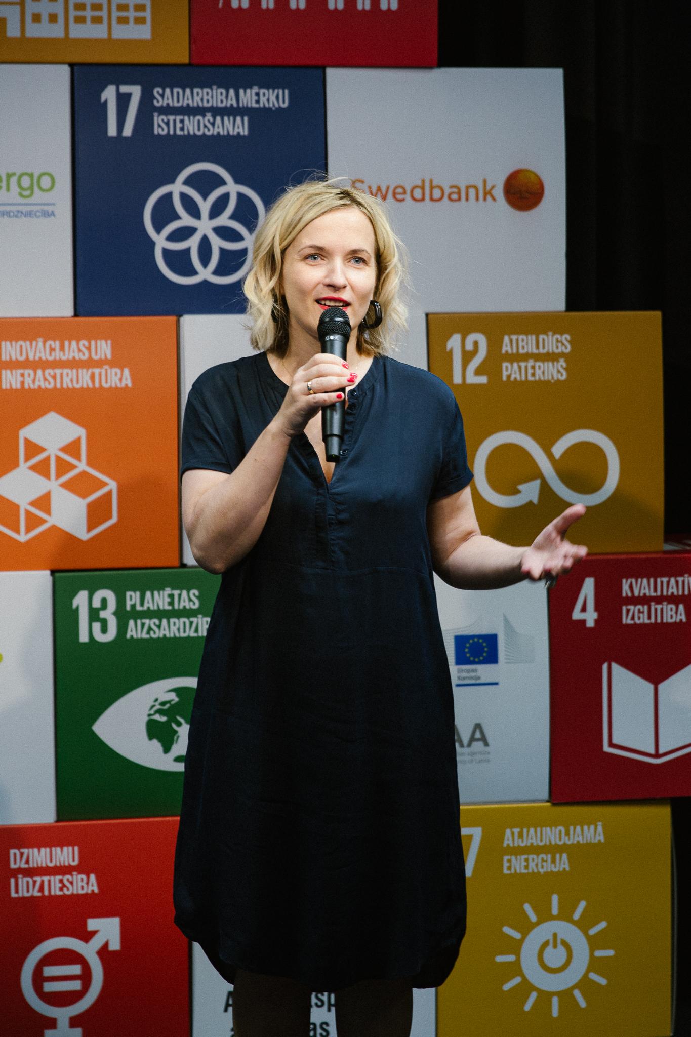 InCSR vadītāja Dace Helmana saka Atbildīgu ideju tirgus 2020 atklāšanas uzrunu